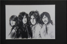 Led Zeppelin Art Print of Original Drawing 8x10 matted wall decor picture gift