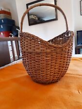 More details for vintage retro traditional wicker cookery shopping basket 1950s 50s 1960s 60s