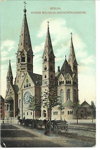 Germany 1907 Postcard - Berlin Kaiser Wilhelm Cathedral / Postage due stamps