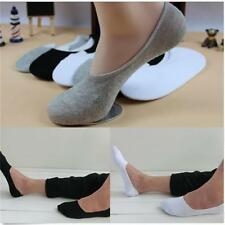 Men's Cotton Low Cut Loafer Boat Socks Non-Slip Invisible No Show Shoe Liner