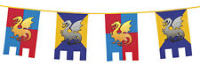 6M Knights And Dragons Medieval Kids Party Decoration Party Flags Castle Bunting