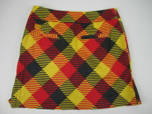 Womens 2 Loudmouth Golf argyle skirt skort