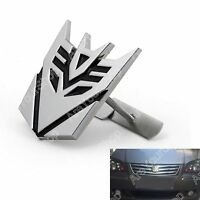 3D Car Transformers Decepticon Front Grille Grill Badge Emblem Decals Chrome BS1