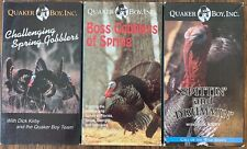 3 Quaker Boy Dick Kirby Wild Turkey Spring Hunting Vintage Vhs Classic Videos