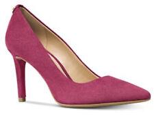 Nib Michael Kors Women's Suede Heels Dorothy Flex Pump Berry size 6.5m