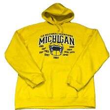 Vintage Pro Edge Michigan Wolverines NCAA Football Sweatshirt Hoodie Youth  Sz M