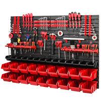 Stapelboxen Set 4x Wandregal Lagersystem 32 Rot Boxen Halterungen 1152 x 780 mm