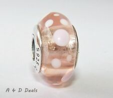 Pandora Genuine Murano Pink Bubbles Glass Charm #790694 - RETIRED