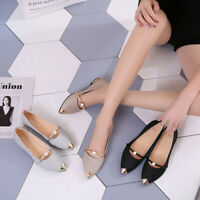 Elegant Women Pointed Toe Low Heels Frosted Shoes ZX
