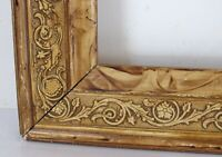 CHESTNUT CARVED GREAT QUALITY  FRAME FOR PAINTING  12 X 9 1/2 INCH ( b- 6)