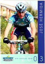 (C2/962) Cartoncino Ciclismo Josè Hermida 2003 – MTB Official Team Motorex Bianc