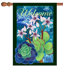 New listing New Toland - Jade Welcome - Colorful Flower Succulent House Flag