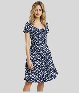 Mountain Warehouse Womens Ladies Orchid Navy Shell Jersey Short Sleeve UV Dress