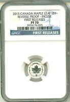 2015 S$1 Canada Maple Leaf Royal Reverse Proof Incuse First Release NGC PF70