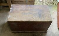 Wooden Storage Chest/Trunk - Vintage - Blankets, Coffee Table Etc