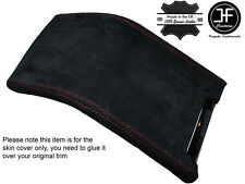 RED STITCHING SUEDE ARMREST COVER FITS FORD MUSTANG 2010-2014
