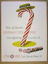 1950 Life Savers Stik-O-Pep peppermint stick candy Lifesavers vintage print Ad