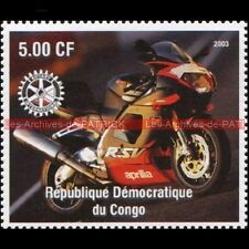 APRILIA RSV 1000 CONGO 2003 Timbre Poste Moto Collection Stamp Stempel Sello