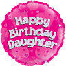 """Happy Birthday Daughter Pink 18"""" Foil Helium Balloon Party Decoration"""