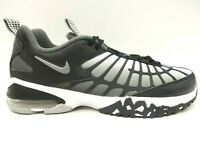 Nike Air Max Gray Black Spider Web Athletic Lace Up Running Shoes Men's 8.5