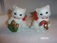 Vintage Homco Christmas Kitten Figurines #5112 Set of 2