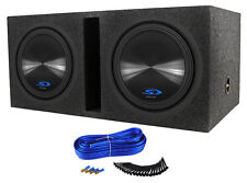 (2) Alpine Type-S SWS-12D2 3000w Car Subwoofers+Vented Sub Box Enclosure SWS12D2