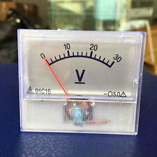 Professional DC 0-30V Square Analog Volt Voltage Panel Meter Voltmeter Gauge CS