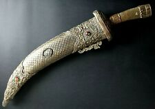 Large Old tibetan chinese sword 40 inche ceremonial stone turquoize dragon tibet