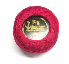 Anchor Pearl Cotton embroidery crochet thread ball size 8 ,85m each select yours