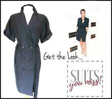WHISTLES • SHIRT DRESS NAVY BLUE OVERSIZED SLOUCHY BELTED S/SLEEVES LINEN MIX 10