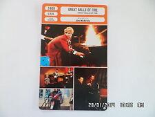 CARTE FICHE CINEMA 1989 GREAT BALLS OF FIRE Dennis Quaid Winona Ryder John Doe