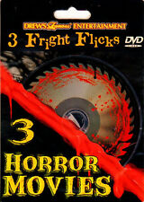Drew's Famous 3 FRIGHT FLICKS: CLASSIC HALLOWEEN PARTY HORROR MOVIES (DVD) RARE!