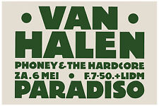 Van Halen at The Paradiso in Amsterdam Concert Poster Circa 1978
