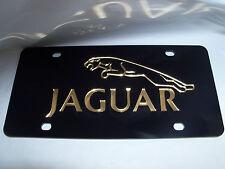 Jaguar  License Plate Black/Gold NEW!!