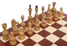 Schach, Edles Schachspiel aus Holz Schachbrett 50x50 cm Handarbeit