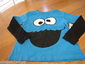 Boy's Sesame Street cookie monster T shirt youth NEW long-sleeve medium M MD $24