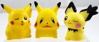 3 PIKACHU + PICHU Funny Face LOT ~ POKEMON KIDS Puppet FIGURES Nintendo BANDAI