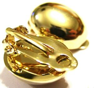 Kaedesigns New Genuine 9ct Yellow Gold Clip On Oval Earrings