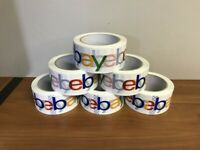 eBay Branded Packaging Shipping Tape BOPP 1 Roll 75 Yards 2Mil Thickness