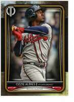 Ozzie Albies 2020 Topps Tribute 5x7 Gold #43 /10 Braves