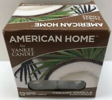 American Home by Yankee Candle Creamy Vanilla Coconut 12 Tea Light Candles