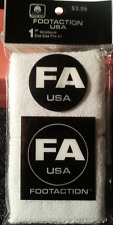 White Wrist Sweatbands for Work or Play; 1 set of two Great Bands; New Package