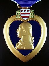 GENUINE UNITED STATES PURPLE HEART MEDAL ORDER AWARDED FOR WOUNDS RECEIVED
