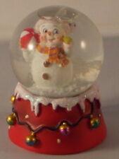 Snowman waterball holding a beachball 6.25cm x 5cm