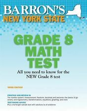 Barron's New York State Grade 8 Math Test, 3rd Edition-ExLibrary