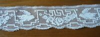 "old Victorian Lace Trim filet net edging bird in fly Sewing &Crafts 52"" England"