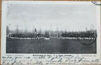 Annapolis, MD 1906 Postcard w/RPO Postmark: Midshipmen at Drill - Maryland