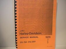 Harley-Davidson Aermacchi 1974 to 1978 SX 175 & 250 SS175 & 250 Service Shop Man