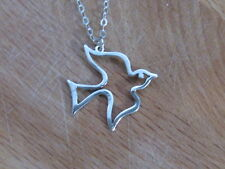 Silver necklace, dove necklace, sterling silver necklace, pendant necklace,charm