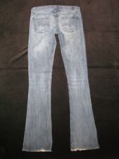 7 For all Mankind Jeans Womens Rocker Slim Bootcut Distressed Sz 26
